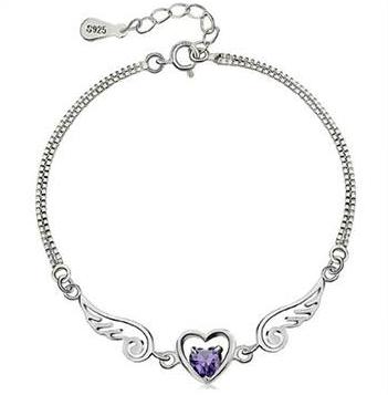 Heaven Sent Sterling Silver Amethyst Bracelet